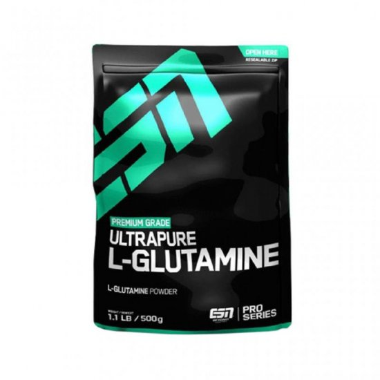 ESN Ultra Pure L-Glutamine Powde 500 gr. Beutel Neutral