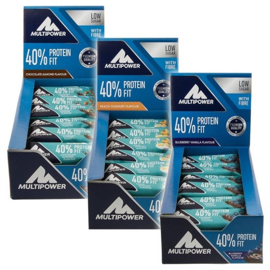 Multipower 40% Protein Fit Bar - 24x35g Display