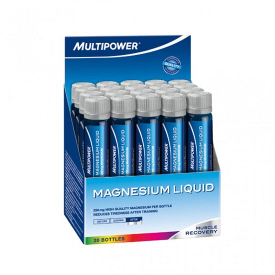 Multipower Magnesium Liquid 20 x 25 ml (250 mg.) Ampullen Display Natural