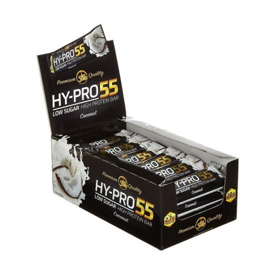 All Stars Hy-Pro 55 Low Sugar Bar 24 x 55gr. Display
