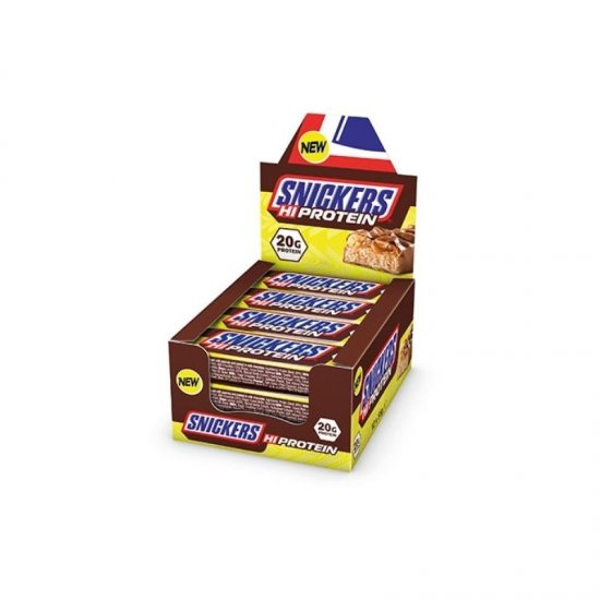 Snickers Hi Protein Riegel 12 x 55 gr. Display
